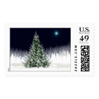 Silent Night Christmas Postage Stamp