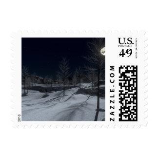 Silent Night Christmas Stamp