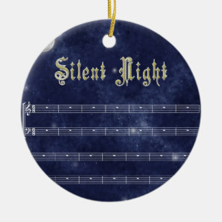 Silent night decoration - night sky ceramic ornament