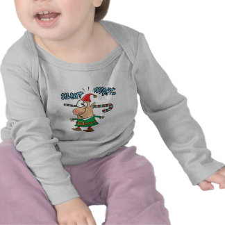 silent night elf ear candy cane stuffed humor t shirts