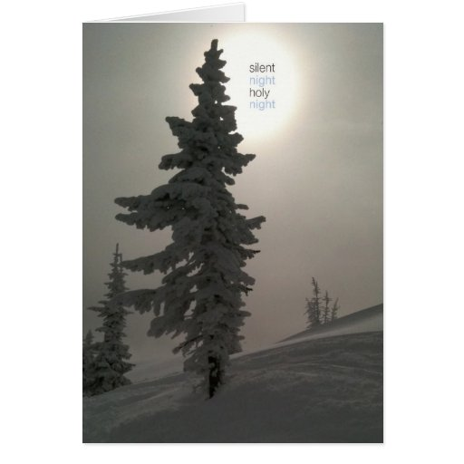 silent night_folded greeting card