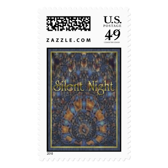 Silent Night Gold Postage