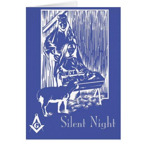 Silent Night Greeting Card