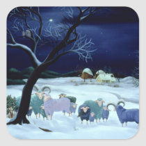 Silent Night Holy Night 1995 Square Sticker