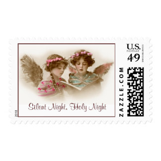 Silent Night, Holy Night Angels Postage Stamp
