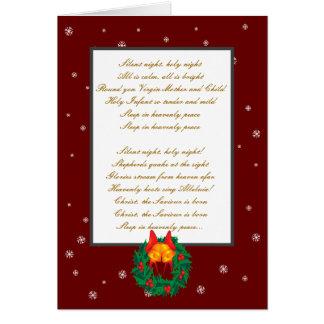 Silent night,holy night greeting card