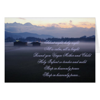 Silent night,holy night greeting cards