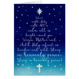 Silent Night Holy Night Christian Christmas Greeting Card