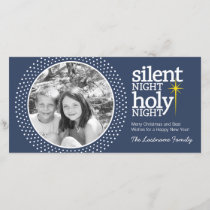 Silent Night, Holy Night Christian Christmas Holiday Card