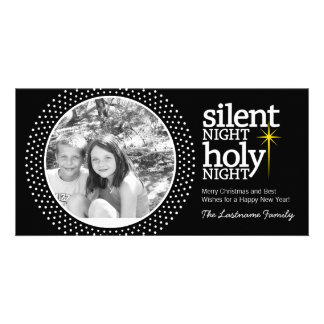 Silent Night, Holy Night Christian Christmas Photo Greeting Card