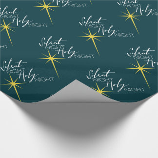 Silent Night Holy Night Christian Merry Christmas Gift Wrap Paper