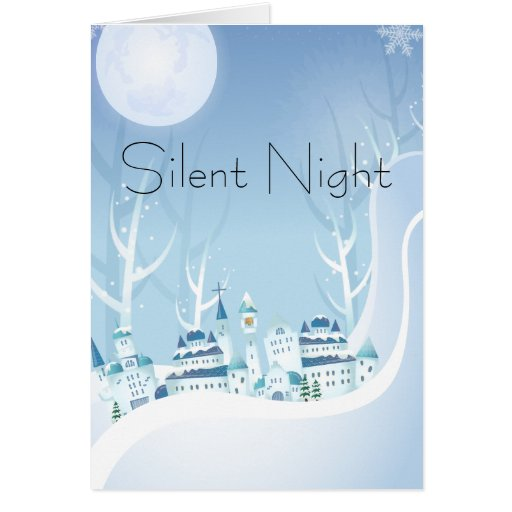 Silent Night Holy Night Christmas Card