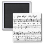 SILENT NIGHT HOLY NIGHT SHEET MUSIC CHRISTMAS SONG 2 INCH SQUARE MAGNET