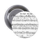 SILENT NIGHT HOLY NIGHT SHEET MUSIC CHRISTMAS SONG 2 INCH ROUND BUTTON