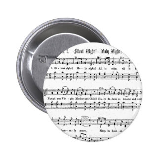 SILENT NIGHT HOLY NIGHT SHEET MUSIC CHRISTMAS SONG PINBACK BUTTON