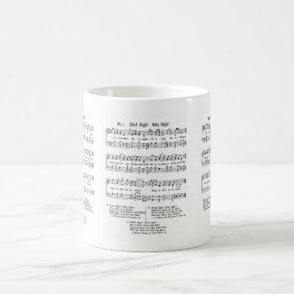 SILENT NIGHT HOLY NIGHT SHEET MUSIC CHRISTMAS SONG COFFEE MUG