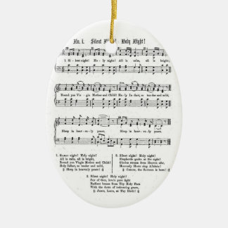 SILENT NIGHT HOLY NIGHT SHEET MUSIC CHRISTMAS SONG CHRISTMAS TREE ORNAMENTS