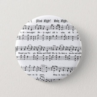 SILENT NIGHT HOLY NIGHT SHEET MUSIC CHRISTMAS SONG PINBACK BUTTON