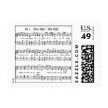 SILENT NIGHT HOLY NIGHT SHEET MUSIC CHRISTMAS SONG STAMPS