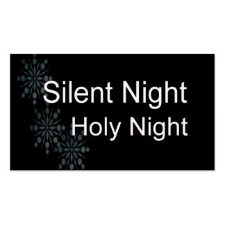 Silent Night Holy Night with Snowflakes Business Card