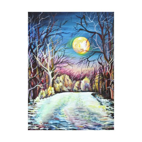 Silent Night in Sweden Canvas Print