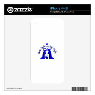 Silent Night iPhone 4S Decal