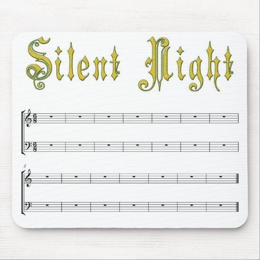 Silent night mousepad