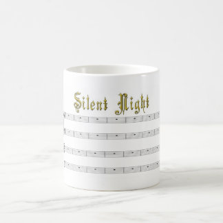 Silent Night music mug