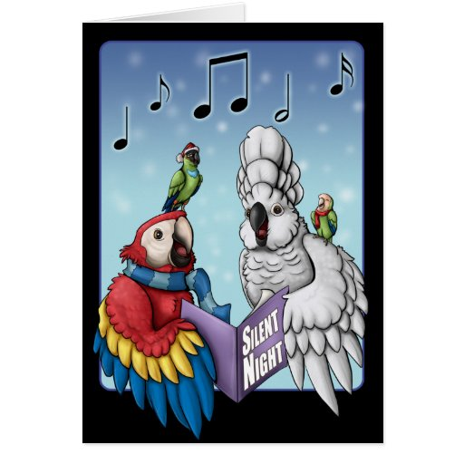 """""""Silent Night?"""" Parrot Christmas Card"""