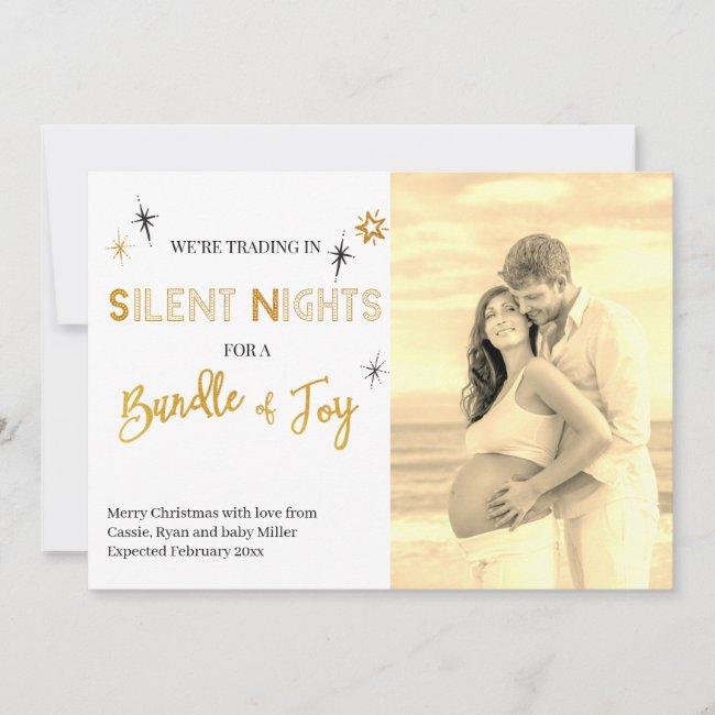 Silent Nights Bundle of Joy Photo Pregnancy Announcement