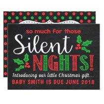 Silent Nights Pregnancy Announcement