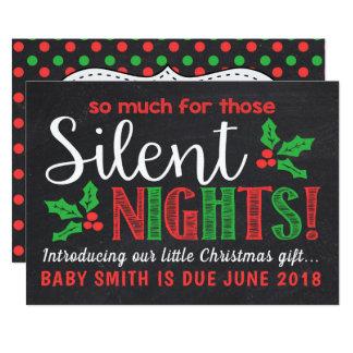 Silent Nights Pregnancy Announcement