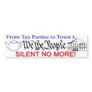 Silent No More! bumper sticker bumpersticker