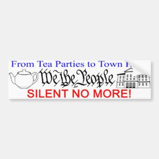 Silent No More! bumper sticker