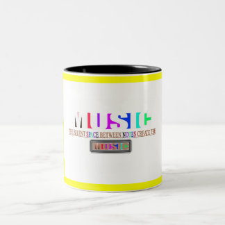 Silent Notes Two-Tone Coffee Mug