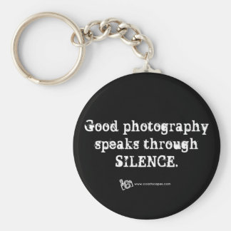 Silent Photography Quote Basic Round Button Keychain