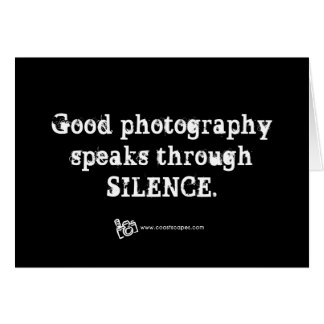 Silent Photography Quote Cards