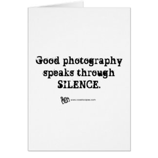 Silent Photography Quote Card