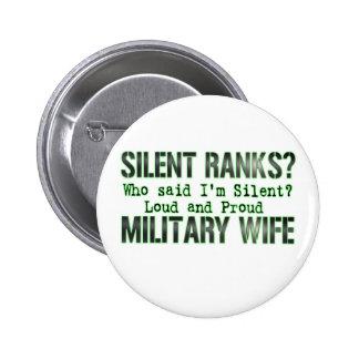 silent ranks pinback buttons