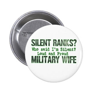 silent ranks pinback button