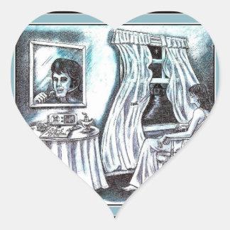 Silent Reflections - Heart Sticker
