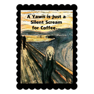 Silent Scream for Coffee Card