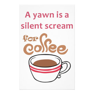 SILENT SCREAM FOR COFFEE STATIONERY