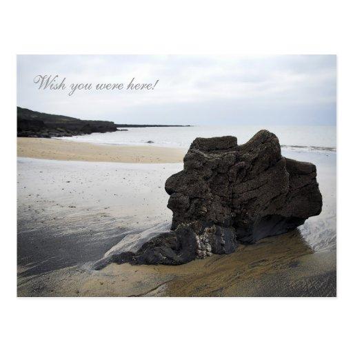 Silent Sentinel Beach Rock Postcard