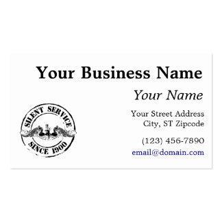 Silent Service Business Card Template