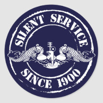Silent Service Classic Round Sticker