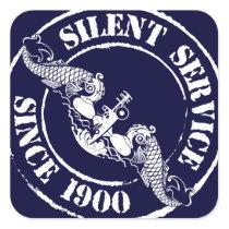 Silent Service Square Sticker