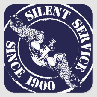 Silent Service Square Sticker