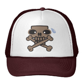 silent skull logo hat
