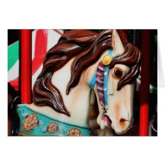 Silent Steed Carousel Horse Card